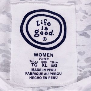 Life Is Good Tops - LIFE IS GOOD Ladies Fitted Burn Out T-Shirt XL